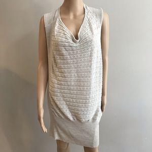 Allsaints knit sweater dress Sz 6 beige brown